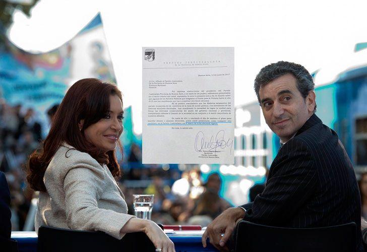 Cristina Fernández de Kirchner y Florencio Randazzo