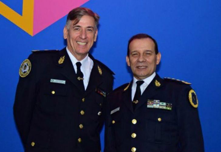 El ex jefe de Policía de la Ciudad, José Pedro Potocar y el Ex Jefe de la Policía Federal, Guillermo Calviño