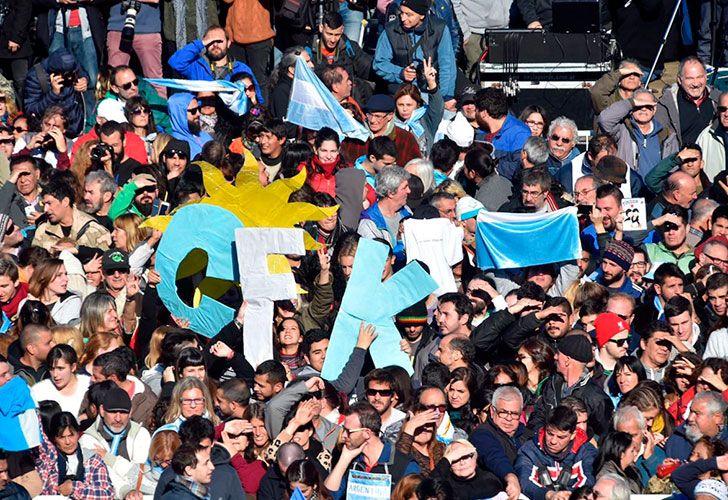 Acto de CFK en el estadio Arsenal