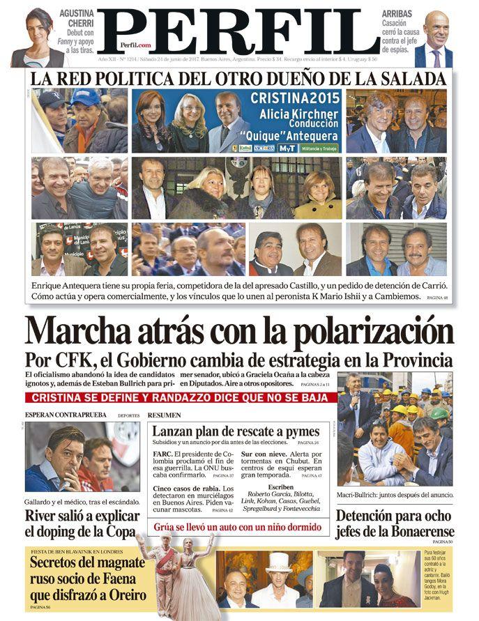 Tapa del Diario Perfil