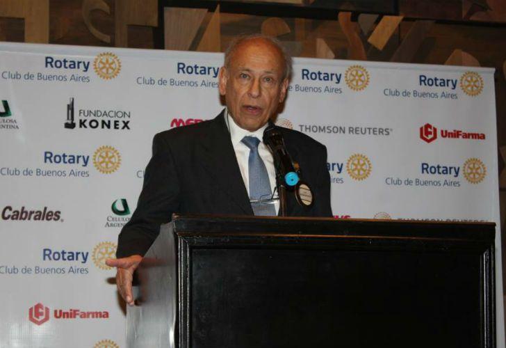 Luis Ovsejevich, presidente del Rotary Club de Buenos Aires 2017-2018.