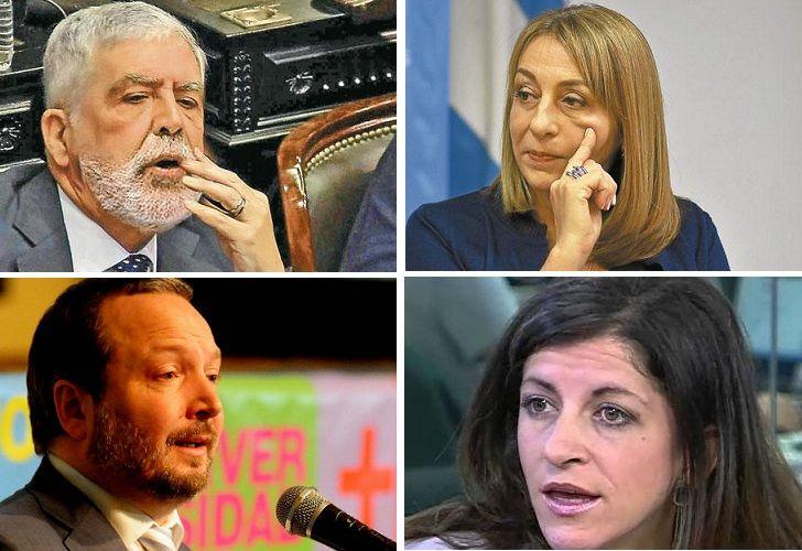 Julio De Vido, Alejandra Gils Carbó, Martín Sabbatella y Fernanda Vallejos, algunos de los kirchneristas que sufrieron reveses judiciales en la última semana.