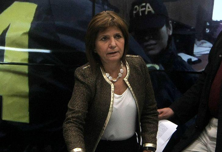 Patricia Bullrich, ministra de Seguridad. Habló del operativo en PepsiCo.