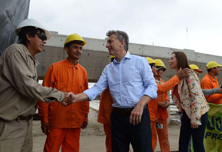 Mauricio Macri junto a la gobernadora María Eugenia Vidal