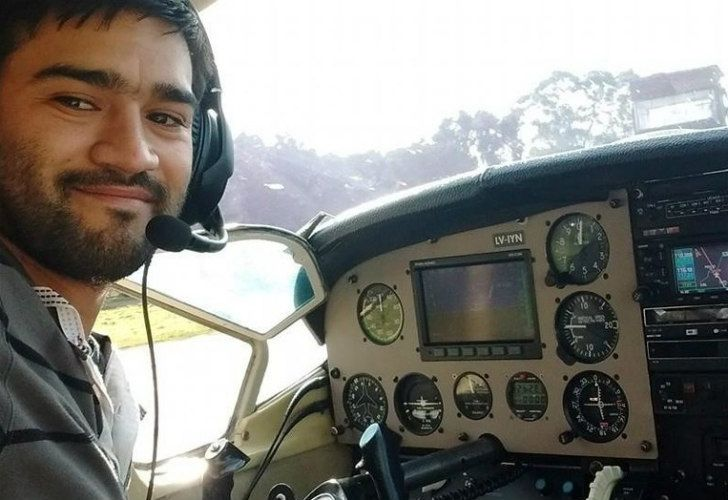 Matías Ronzano, uno de los pilotos de la avioneta desaparecida.