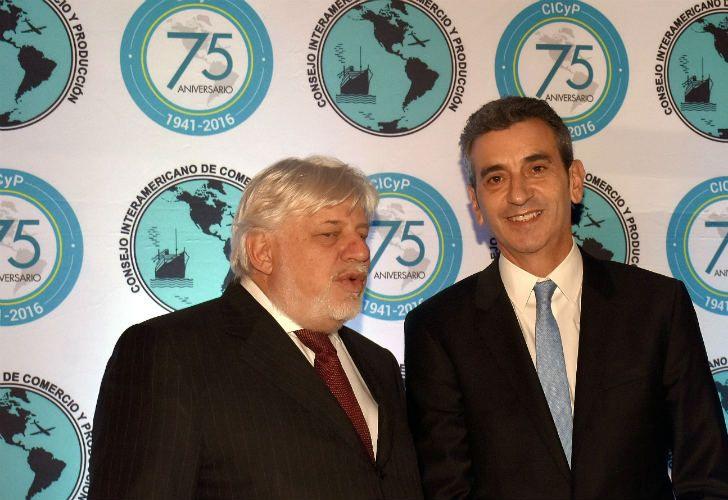 Florencio Randazzo, durante una charla organizada por el Consejo Interamericano de Comercio y Producción (CICYP).