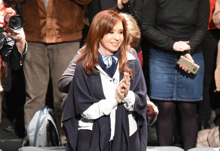 Cristina Fernández, en un acto el partido bonaerense de Malvinas Argentinas.