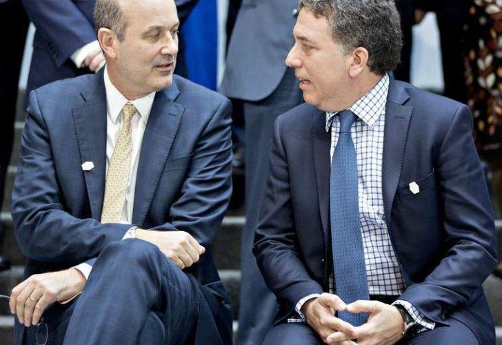El Presidente del Banco Central, Federico Sturzenegger, junto al Ministro de Hacienda, Nicolás Dujovne.