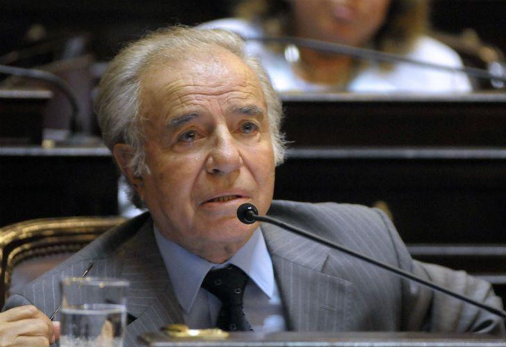 El expresidente Carlos Saúl Menem.