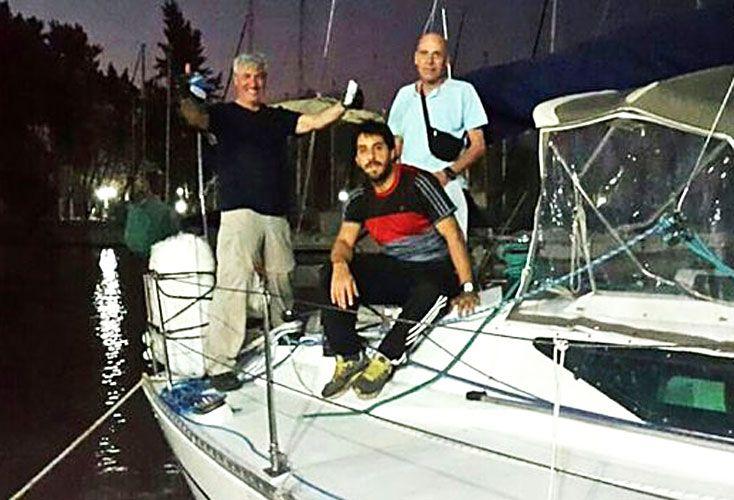 Tunante II. Jorge Benozzi, Mauro Capuccio y Horacio Morales, tres de los cuatro tripulantes del velero que desapareció en 2014.