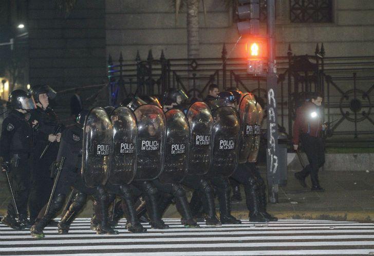 Incidentes en la marcha en reclamo de la aparición de Maldonado.
