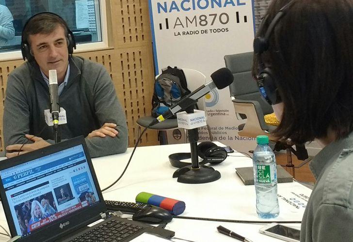 Esteban Bullrich fue entrevistado por María Laura Santillán en Radio Nacional