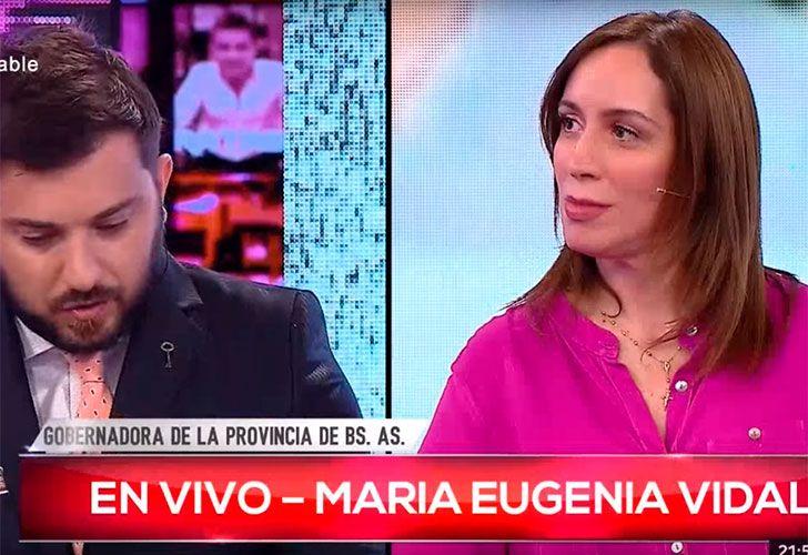 Brancatelli y Maria Eugenia Vidal