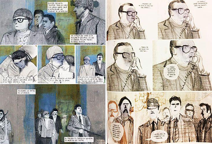 Allende. Algunas páginas de la novela gráfica que acaba de conocerse en su versión en castellano, publicada por el sello español ECC.