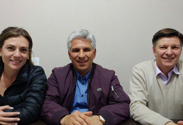 Claudio Poggi, candidato a Senador y Jose Luis Riccardo candidato a Diputado