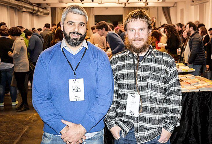Los hacedores. Víctor Malumián y Hernán López Winne durante la última edición de la Feria de Editores celebrada en junio.