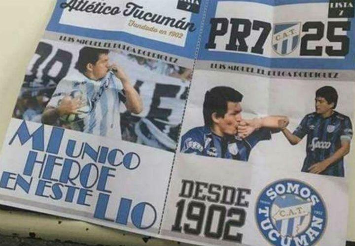 Las boletas con el homenaje al ídolo de Atlético de Tucumán