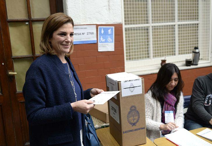 Pérez Volpin, en el momento de la votación.