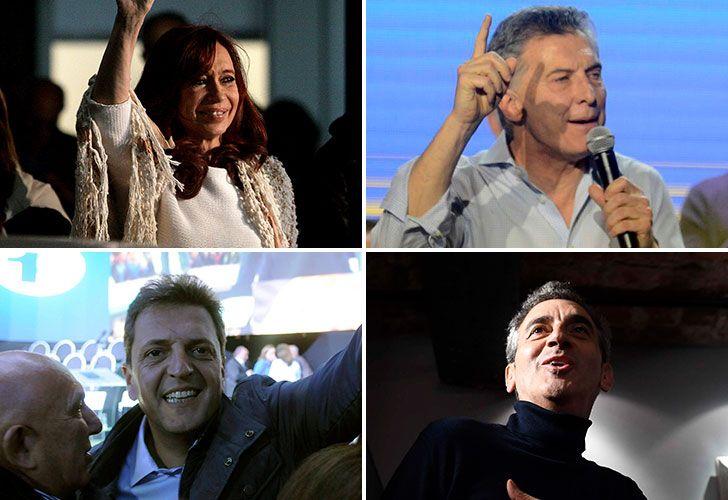 Cristina Kirchner, Macri, Randazzo y Massa