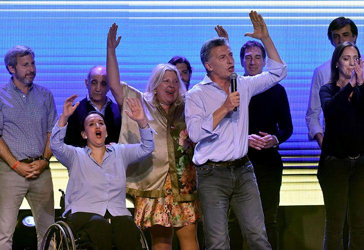 Mauricio Macri en el bunker de Cambiemos