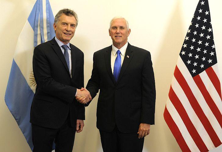 Macri recibirá a Pence, vicepresidente de Estados Unidos.