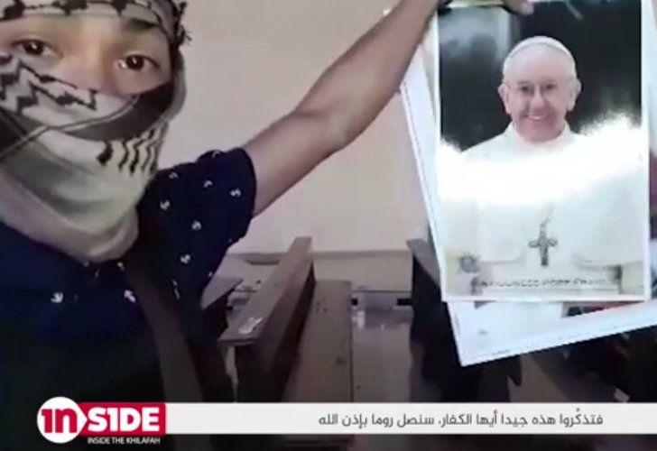 El Estado Islámico amenazó al Papa.