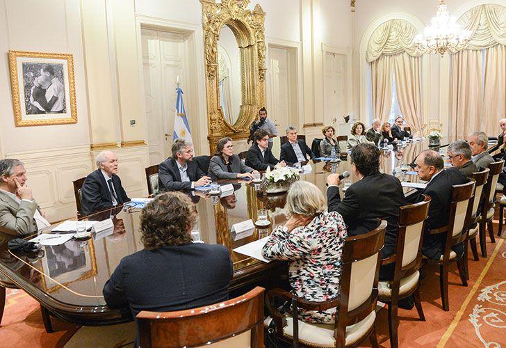 El presidente, Mauricio Macri, encabezó esta mañana una reunión del Consejo Presidencial Argentina 2030, que se realizó en el Salón Eva Perón de la Casa Rosada.