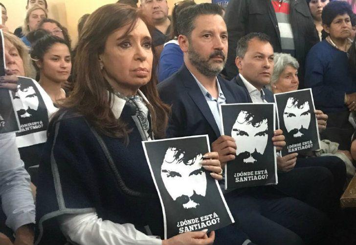 CFK en una misa por Santiago Maldonado.