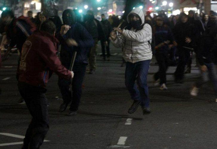 Incidentes en Plaza de Mayo tras la marcha por Santiago Maldonado.