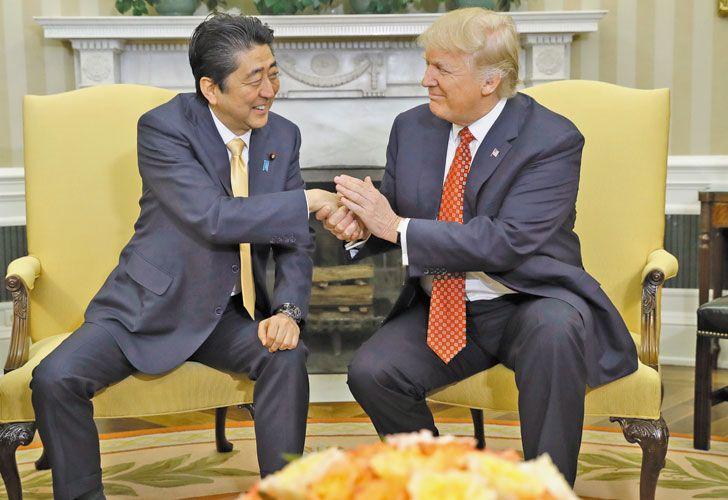Alianza. El premier Abe aceitó el vínculo con Donald Trump.