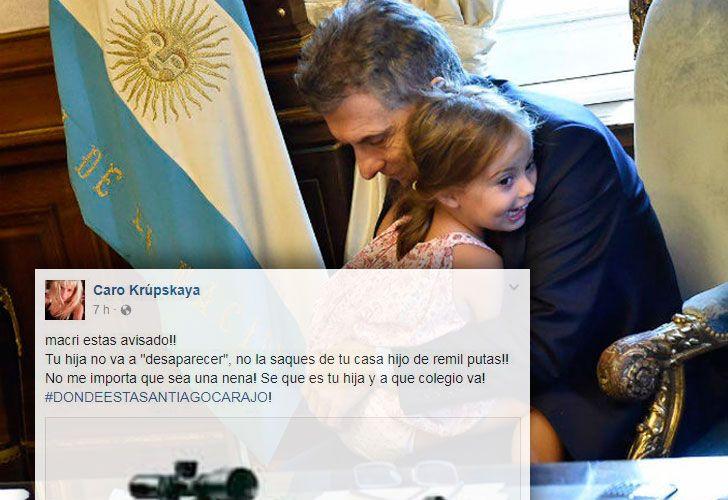 El juez Lijo investiga una amenza de muerte a la hija de Macri