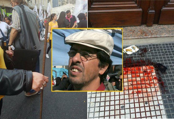 Militantes de Quebracho golpearon a su exlíder, Fernando Esteche.