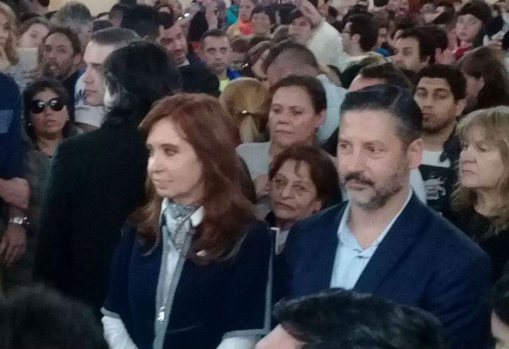 Cristina en la misa por Maldonado en Merlo.