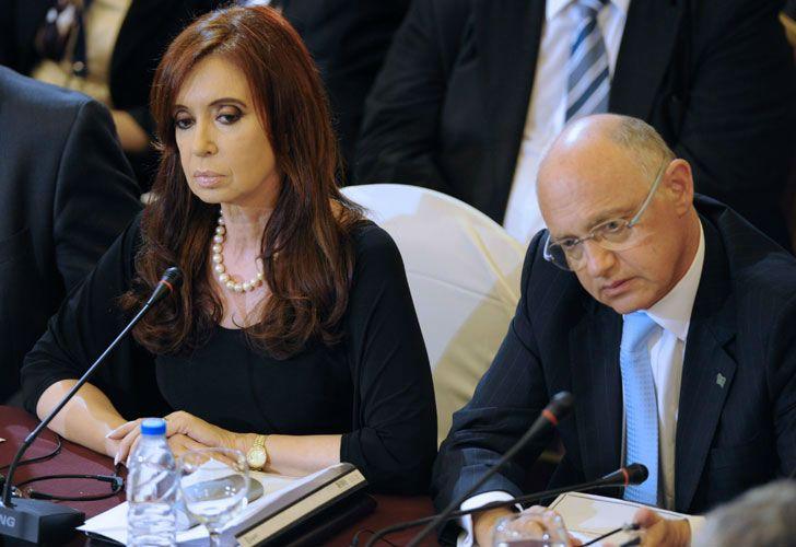 La expresidenta Cristian Fernández de Kirchner y el excanciller Héctor Timerman.