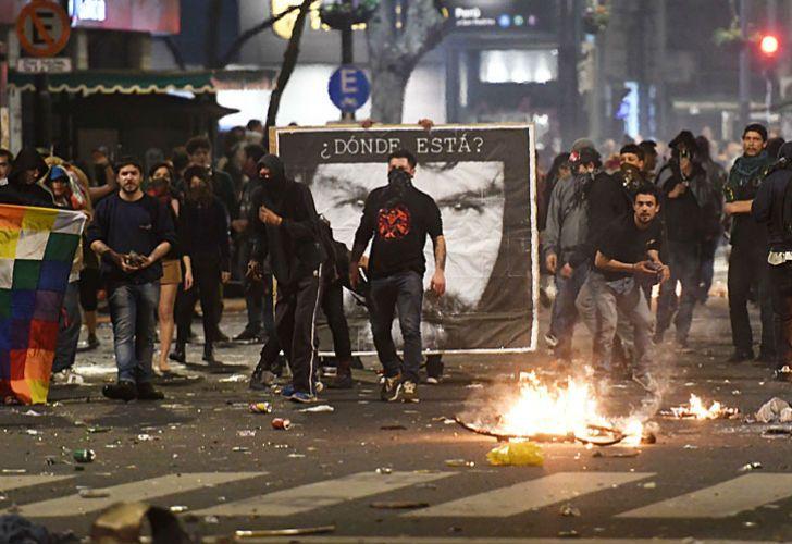 Incidentes en la marcha que pidió por la aparición de Santiago Maldonado.