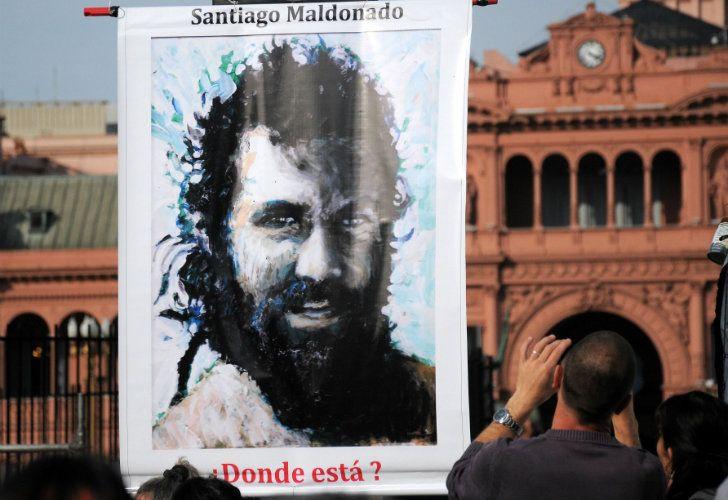 El reclamo por la aparición de Santiago Maldonado