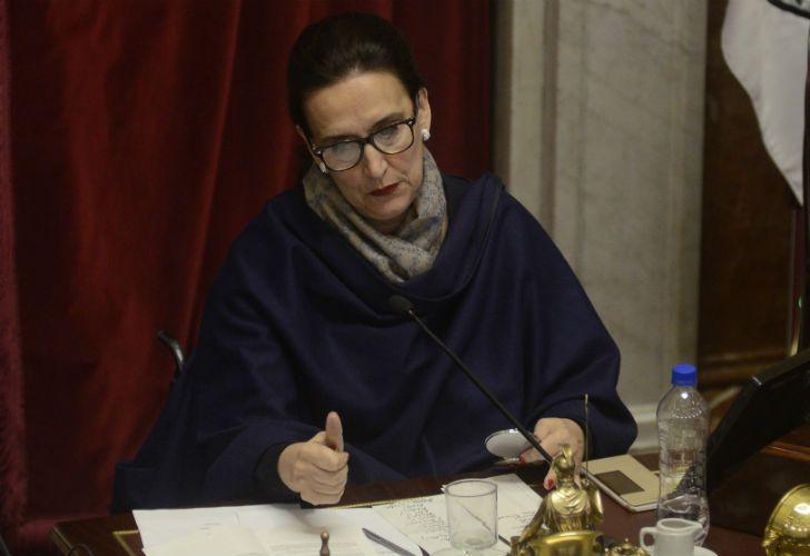 La vicepresidenta Gabriela Michetti en el Senado.