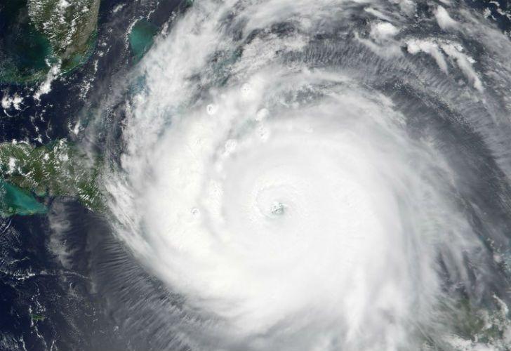 Imagen satelital del huracán que azotó al Caribe.