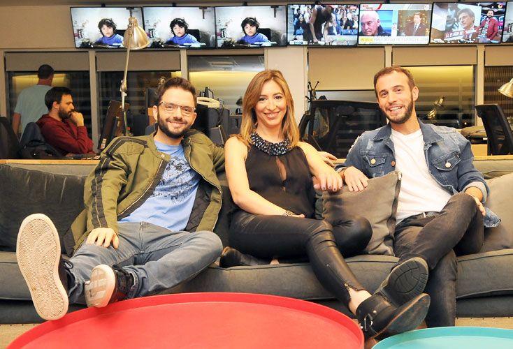 Equipo. Apuesta joven y de medianoche: Nacho Ini, Federico Girón y Gisela Busaniche.