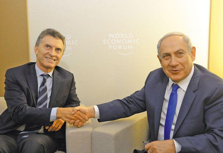 Sintonia. El año pasado, Macri y Netanyahu se vieron en Davos. Antes se habían reunido en 2014.