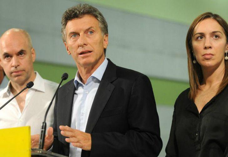 Macri junto a Vidal y Larreta.