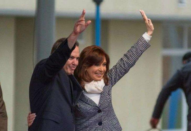 Otras épocas. Miguel Ángel Pichetto junto a Cristina Fernández.