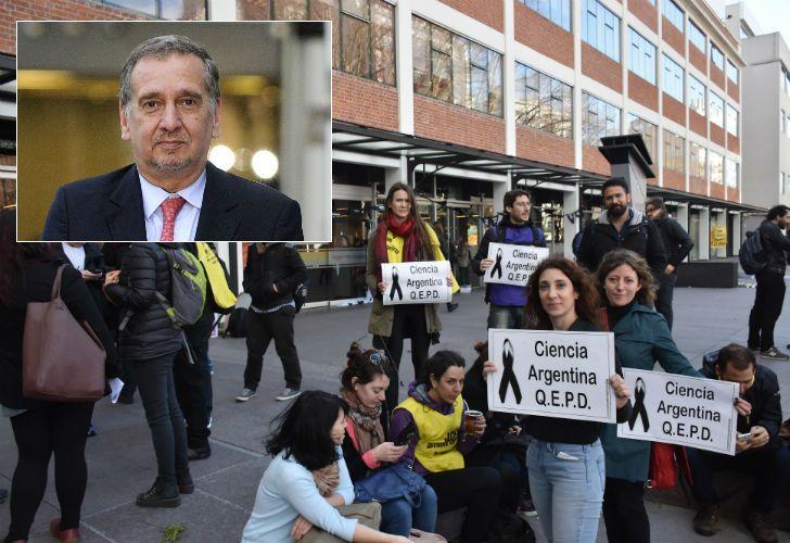 Lino Barañao se refirió a la toma pacífica del ministerio de Ciencia y Tecnología.