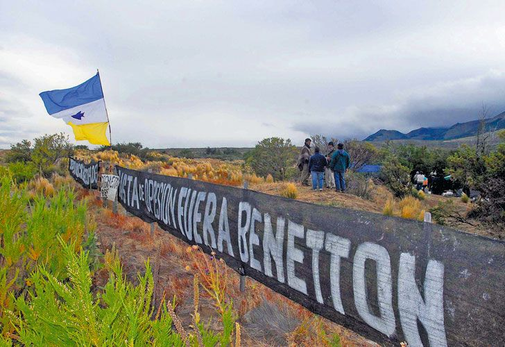Mapuches. Reclaman territorio que está en manos de Benetton.