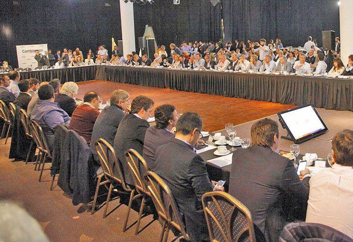 Masivo. Estuvieron los candidatos de Cambiemos que competirán el 22 de octubre en todo el país.