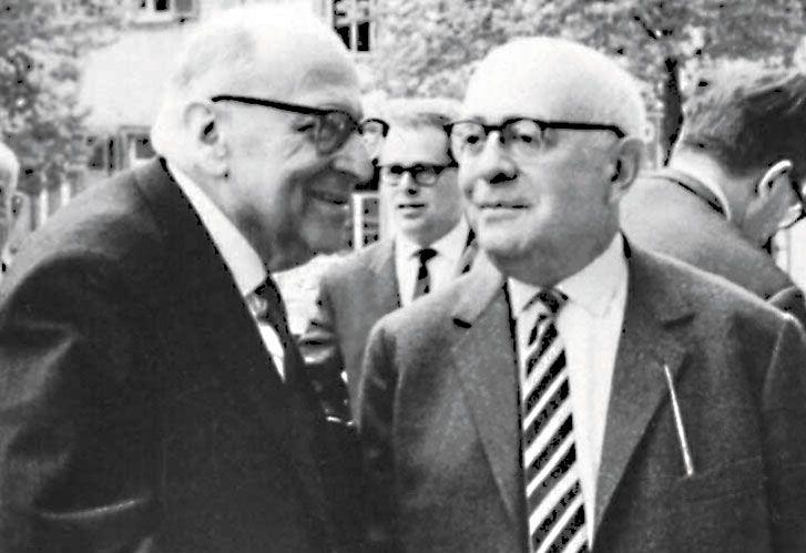 Escuela de Frankfurt. Max Horkheimer y Theodor Adorno, investigadores.