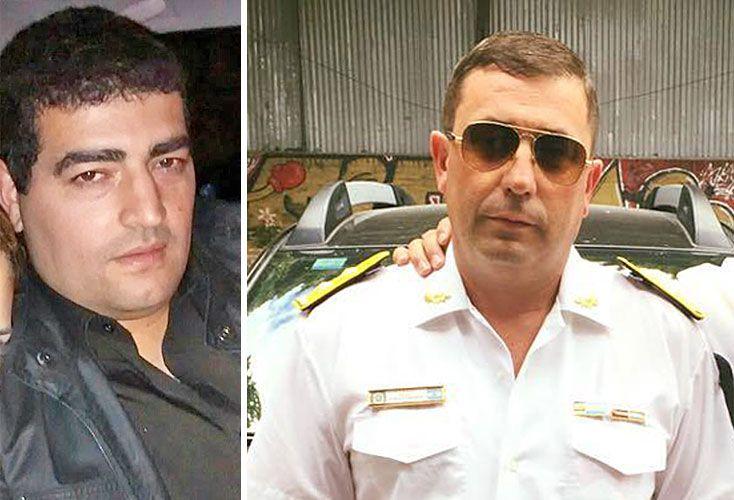 Money. El oficial Martínez (izq.) y el comisario Orgoñez (centro), apartados tras el hallazgo de 800 mil pesos.