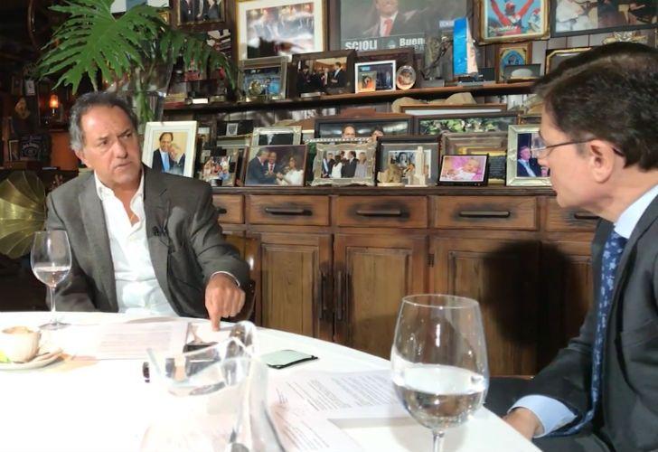 Daniel Scioli entrevistado por Jorge Fontevecchia.