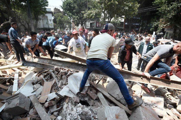 Sismo de 7,1 sacudió la Ciudad de México.