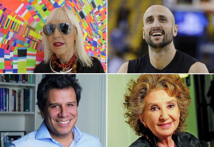 Minujín, Ginóbili, Aleandro y Manes. Candidatos al Premio a la Inteligencia de los argentinos.